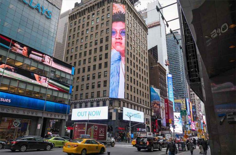 Wajah Rich Brian terpampang di Times Square, New York   Gambar: 10K Advertising